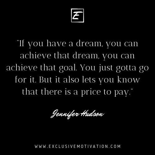 Magnificent Jennifer Hudson Quotes On Motivation