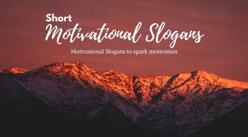 short motivational slogans