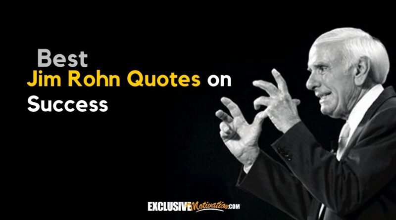 Best Jim Rohn Quotes