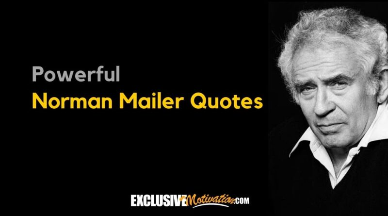 Top Norman Mailer Quotes